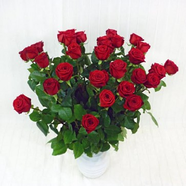30 Rose Rosse a gambo lungo