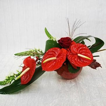 Arrangiamento Floreale con Anthurium