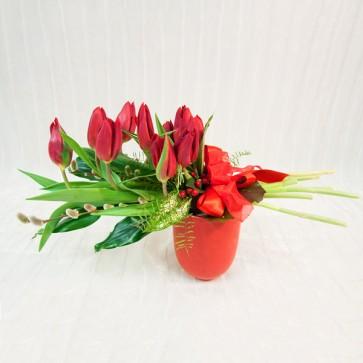 Arrangiamento Floreale in Tulipani