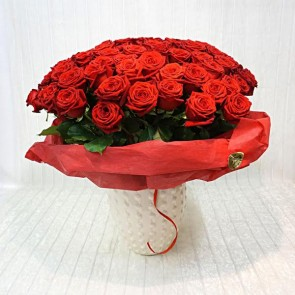 100 rose rosse Deluxe