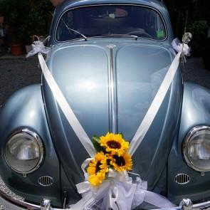 Addobbo auto in Girasoli